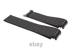 TAG Heuer leather rubber watch band Connected Modular 45 SBF8A grey black steel