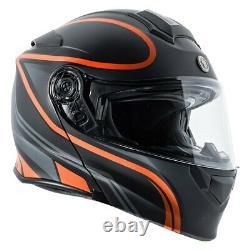 TORC T2815VP225 T-28 Vapor X-Large Black/Orange/Gray Modular Helmet