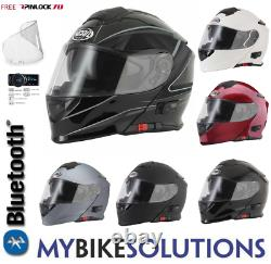 Vcan V271 Flip Front Bluetooth Blinc Motorcycle Bike Helmet With Free Pinlock
