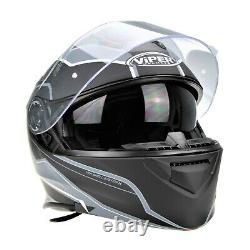 Viper Rs-v171 Bluetooth Blinc Flip Front Motorcycle Helmet + Pinlock Zone Grey