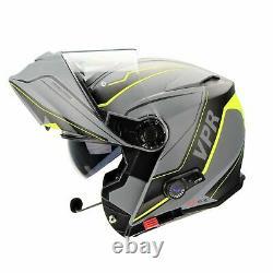 Viper Rs-v171 Bluetooth Flip Front Motorcycle Helmet + Free Pinlock Zone Yellow