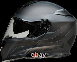 Z1R Solaris Modular Scythe Motorcycle Helmet GREY BLACK