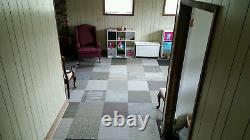 288 Pieds Carrés Brand New Carpet Tile Square Tiles Gray Black Silver Modular Assortiment