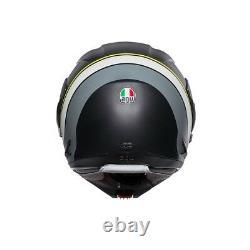 Agv Helm Klapphelm Compact St Noir Gris Jaune Größe L Motorradhelm Modulaire
