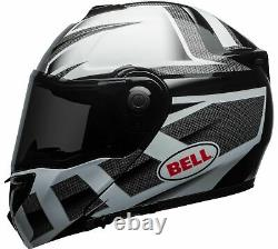 Bell Srt Predator Modular Motorcycle Helmet Gloss Blanc/noir/gris Grande Inb