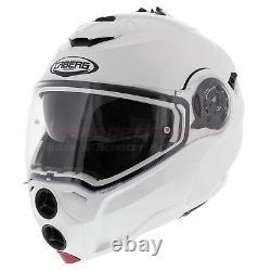 Caberg Droid Matt Black Hiviz Iron Grey White Flip Avant Casque De Moto Nouveau