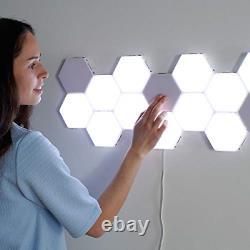 Carreaux Muraux York Modular Touch Wall Hexagon Lumière Murale, Panneaux Led Lumineux Pour A