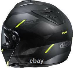 Casco Helmet Modulare Hjc I90 Aventa Mc4sf P\j Black Grey Yellow Fluo Matt Tg L