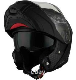 Casco Moto Modulare Apribile Vemar Sharki Hive Noir Matt Grey Nero Grigio Tg L