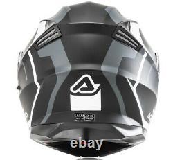 Casque Casco Moto Modulare Disponible Acerbis Serel Nero Grigio Noir Gris Tg S