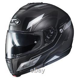 Casque De Moto À Flux Hjc Cl-max3 Matte Gray S Sm Petit Écran Solaire Modulaire