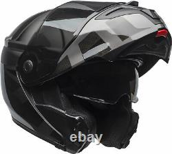 Casque De Moto À Prédateur Modulaire Noir/gris Noir Pour Adulte Bell Dot Ece