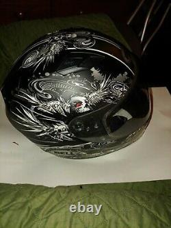 Casque De Moto Bell Qualifier Skull Flare Matte Black/gray