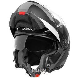 Casque De Moto En Verre De Fibre Modulaire Schuberth C3 Pro Sextant Gris/matte Noir