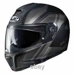 Casque De Moto Modulaire Hjc Rpha 90 Tanisk Mc5sf Matte Noir Gris Taille L