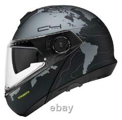 Casque De Moto Modulaire Schuberth C4 Pro Black/grey Matt Magnitude Black