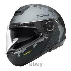 Casque De Moto Modulaire Schuberth C4 Pro Black/grey Matt Magnitude Black Size