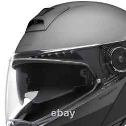 Casque De Moto Modulaire Schuberth C4 Pro Glisser Gris Noir/anthracite Taille L
