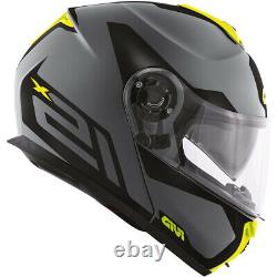 Casque De Moto Modular Givi X21 Hx21 Spirit Grey Black Yellow Fluo Taille M