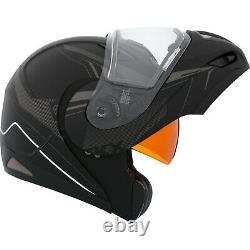 Casque De Motoneige Modulaire Flip Up Ckx Tranz Rsv Recharge Black Grey Mat Grand