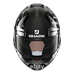 Casque Modulaire De Requin Evo-one 2 Lithion Dual Black/chrome/dark Grey