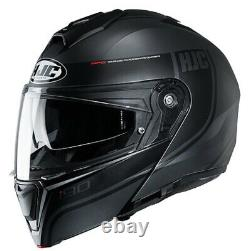 Casque Modular Motorcycle Hjc I90 Davan Mc5sf Matte Black Grey Size M
