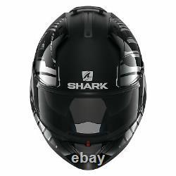Casques De Requin Evo-one 2 Lithion Dual X-large Noir/chrome/gray Casque Modulaire