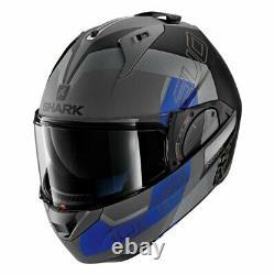 Casques De Requin Evo-one 2 Slasher Mat Gris Foncé/noir/bleu Taille M (57-58 Cm)