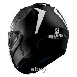 Casques De Requin Evo-one 2 Slasher Matte X-large Casque Modulaire Noir/gris/blanc