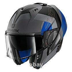 Casques De Requin Evo-one 2 Slasher X-large Dark Gray/black/blue Modular Helmet