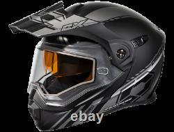 Castle X Exo Cx950 Tâche Casque De Motoneige Modulaire Matte Gray/black