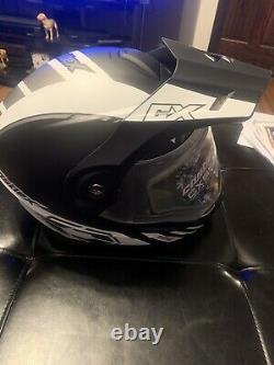 Castle X Exo Cx950 Tâche Casque De Motoneige Modulaire Matte Gray/black XL