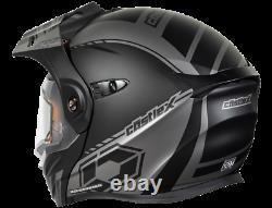 Castle X Exo-cx950 Task Electric Modular Snowmobile Helmet Matte Gray/black