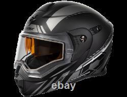 Castle X Exo-cx950 Task Electric Modular Snowmobile Helmet Matte Gray/black 2xl