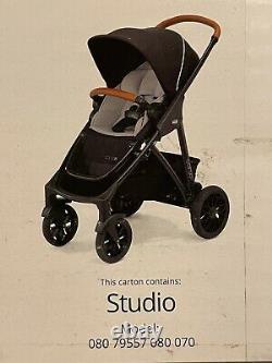 Chicco Corso Le Poussette Modulaire Dans Studio Black & Gray Boîte En Détresse