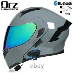 Dot Modular Moto Casque Bluetooth Full Face Dual Visor Flip Up Moto Casque