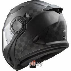 Ff313 Vortex Urban Commuter Moto Moto Moto Carbone Solide Casque Flip-up
