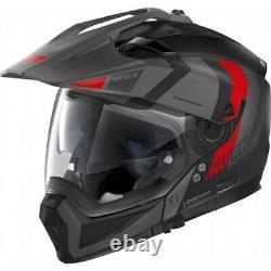 Full-face Modular Motorcycle N70-2 X Decurio 29 Matte Black Grey Red M