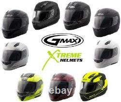 Gmax Md04 Solid Flip Up Casque Modulaire Xs S M L XL 2xl 3xl