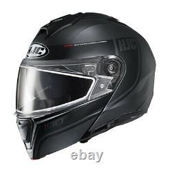 Hjc Adulte I90 Modular Davan Snow Helmet Withdual Pane Shield Black/grey 2xl