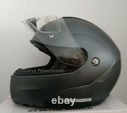 Hjc Cl-max3 Casque De Moto Semi Plat Anthracite Xs Écran Solaire Modulaire