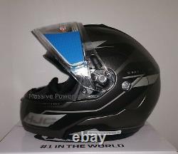 Hjc Cl-max3 Flow Electric Snowmobile Helmet Gris Noir Moyen Crème Solaire Modulaire