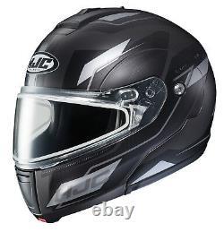 Hjc Cl-max3 Flow Snowmobile Helmet Gray Black Sm Petit Écran Solaire Modulaire