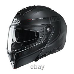 Hjc I90 Davan Casque Modulaire Gris/black MD