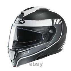 Hjc I90 Davan Casque Modulaire Noir/gris/blanc Toutes Les Tailles