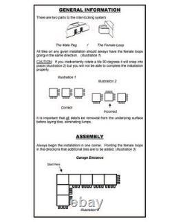 Motofloor Modular Garage Flooring Tiles 48 Pieds Carrés Par Boîte (b&w, B&gray Ou Gray)