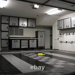 Motofloor Sols De Garage Modulaires, 48 Pi. Ft Box, Noir & Blanc Nouveau