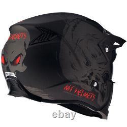 Mt Streetfighter Darkness Matt Black Grey Modular Motorcycle Motorcycle Casque
