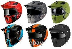 Mt Streetfighter Full Face Off Road MX Skull Motorcycle Motorbike Crash Helmet