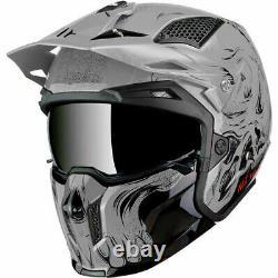Mt Streetfighter Full Face Off Road Skull Motorcycle Helmet Darkness Matt Black